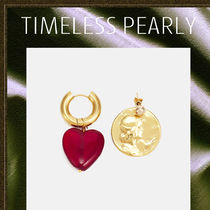 TIMELESS PEARLY◆ガラス ハートジュエリー&コイン ピアス
