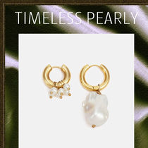 TIMELESS PEARLY◆バロックパール フープピアス
