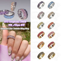 ★Pasion★BTS 着用 Rainbow Color Twinkle Bling Ring