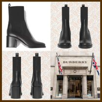 21AW◆リュクスな佇まい◆BURBERRY◆Leather Heeled Boots
