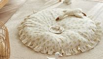 DECO VIEW(デコヴュー) プレイマット・ベビーマット 【DECO VIEW】Cottage Yellow Ruffle Large Cushion Round Rug
