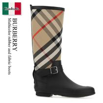 Burberry Multicolor rubber and fabric boots