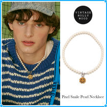 VINTAGE HOLLYWOOD(ヴィンテージハリウッド) ネックレス・チョーカー 【VINTAGE HOLLYWOOD】Pixel Smile Pearl Necklace〜ネックレス