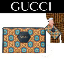 Gucci 100周年 ポーチ クラッチ バッグ 小物入 ロゴ 送料込 直営