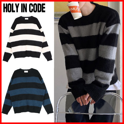 HOLY IN CODE(ホーリーインコード)★ Hairy Stripe Loose Knit