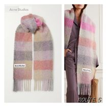 Acne(アクネ) マフラー・ストール ★関税負担★ACNE STUDIOS★ Fringed checked knitted scarf