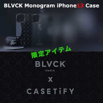 ★BLVCK x CASETiFY★限定コラボ*モノグラム 文字入れ iPhone13