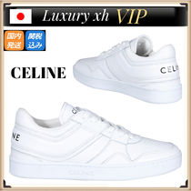21AW CELINE TRAINER LOW ロゴ レザー レースアップ スニーカー