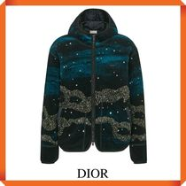 DIOR AND PETER DOIG ZIPPED HOODED BLOUSON