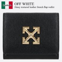 Off-White(オフホワイト) 折りたたみ財布 Off White Jitney textured leather french flap wallet
