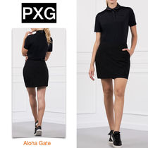 PXG(ピーエックスジー) ポロシャツ ★PXG★LEATHER TRIM POLO レザー 襟 ストレッチ ポロシャツ
