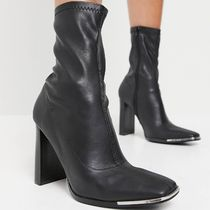 【SALE】Public Desire Stormy ankle boots with toe plating