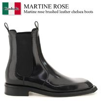 Martine rose brushed leather chelsea boots