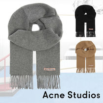 ■ACNE■Canada New logo-embroidered wool scarf マフラー 3色
