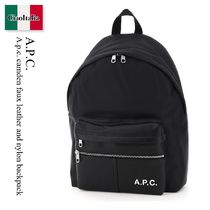 A.p.c. camden faux leather and nylon backpack