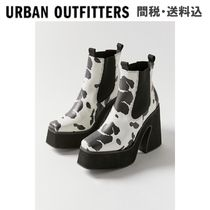 Urban Outfitters(アーバンアウトフィッターズ) ショートブーツ・ブーティ 【Urban Outfitters】Koi Footwearプラットフォームブーツ 白黒