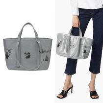 【Off-White】Graphic Print Commercial 45 Tote グレー