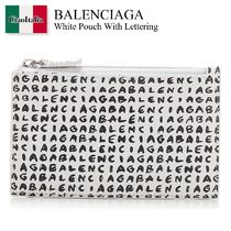 Balenciaga White Pouch With Lettering