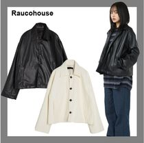 [Raucohouse] Big Button Short Leather Jacket★すぐ品切れ★