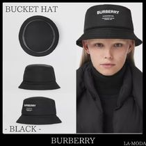 21AW◆BURBERRY◆ロゴプリント ナイロン バケットハット