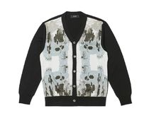 【HYII】SKULL GRAPHIC KNITTED CARDIGAN / Black