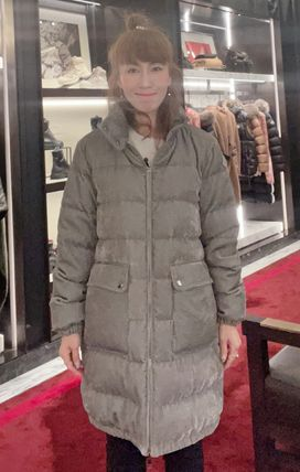 MONCLER★21/22AW コーデュロイ ロング丈 ABRICOTIER★関税込み