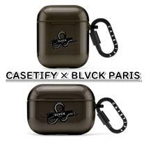 CASETIFY × BLVCK PARIS/AirPods Pro / AirPods ケース ロゴ 黒