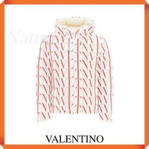 Valentino Reversible Down Jacket With Vltn Times Print
