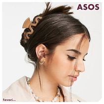 ASOS◆ My Accessories◆スワールヘアクリップ/brown