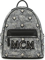 MCM★EMBROIDERED CANVAS BACKPACK