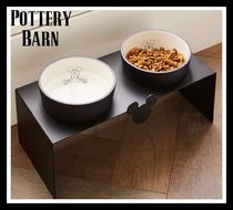 ★Pottery Barn★Mickey Bowl & Stand ミッキーペット食器セット