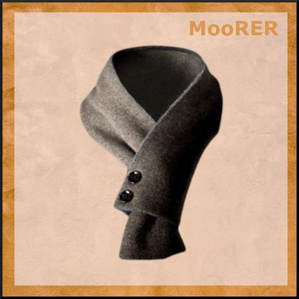 MooRER ムーレー Cashmere scarf with button closure スカーフ