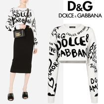 Dolce & Gabbana☆Cropped sweater グラフティセーター☆送込