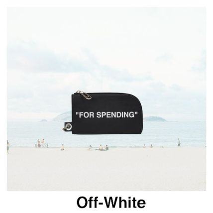 """【Off-White】""""FOR SPENDING"""" POUCH"""