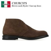 Church'S Brown suede Ryder 3 lace-up shoes