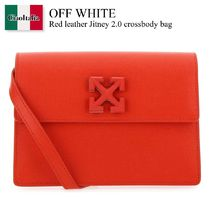 Off White Red leather Jitney 2.0 crossbody bag