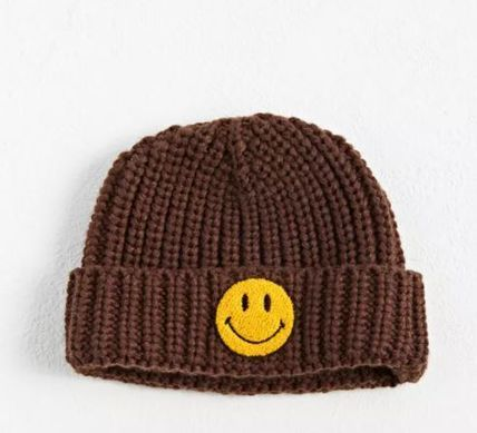 CHINATOWN Market Smiley Patch Beanie ニットキャップ ビーニー