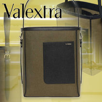 【Valextra】Canvas バケットバッグ カーフスキン 直営店買付け