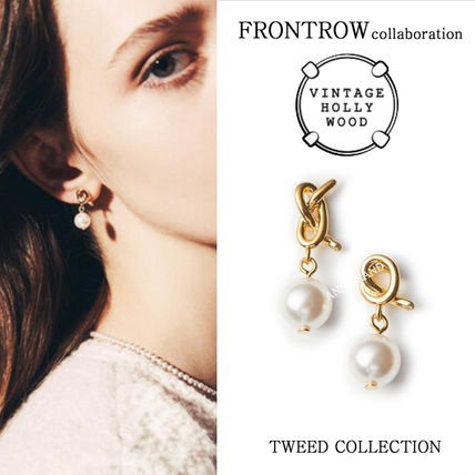 VINTAGE HOLLYWOOD x FRONTROW★Twist Drop Pearl Earringピアス