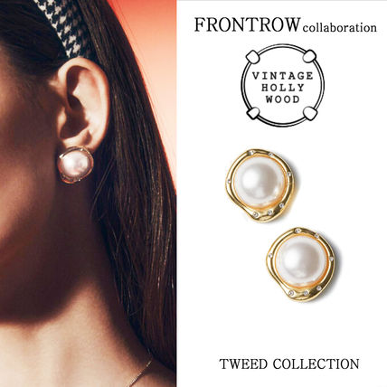 VINTAGE HOLLYWOOD x FRONTROW★Pearl Post Earringピアス