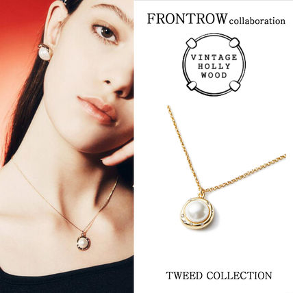 VINTAGE HOLLYWOOD x FRONTROW★Pearl Pendant Necklace/追跡付