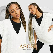◆【ASOS】*DESIGN knitted cable tank/英国限定◆