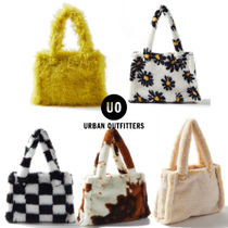 Urban Outfitters(アーバンアウトフィッターズ) トートバッグ 【Urban Outfitters】ミニ フェイクファー トートバッグ