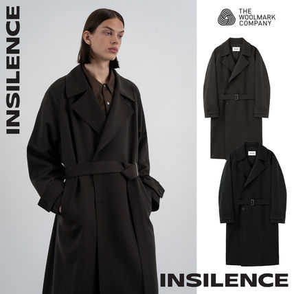 [IN SILENCE] Wool Blend Long Trench Coat★トレンチコート