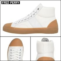 【FRED PERRY】ラバーソール ロゴ入り レザー スニーカー ♪