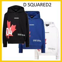 D SQUARED2(ディースクエアード) キッズ用トップス 大人もOK【D SQUARED2】キッズ メープルロゴパーカー