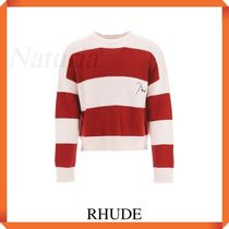 Rhude Striped Sweater With Embroidered Logo