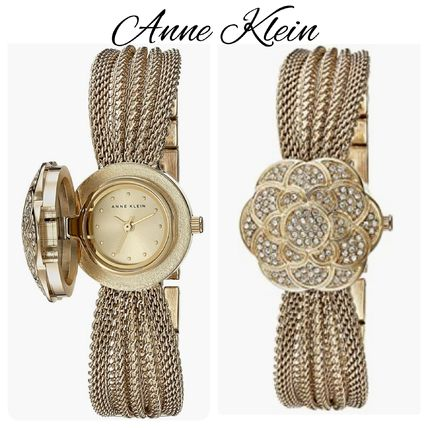 ★ANNE KlEIN★ Crystal-Accented Watch 花柄 アクセント 時計