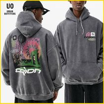 Urban Outfitters(アーバンアウトフィッターズ) パーカー・フーディ 日本未入荷【Urban Outfitters】Grey Orion Collage フーディ