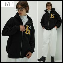 HYII☆HYKI Boucle Embroidered Zip Up Hoodie